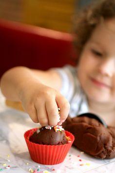 Homemade Chocolate Ice Cream Play Dough