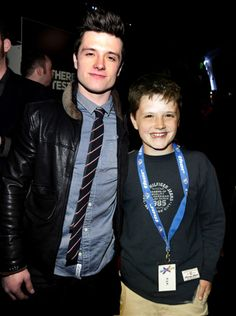 young and older Josh Hutcherson.