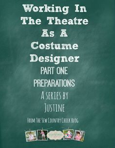 Working as a costume designer part one