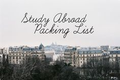 SPARKLES&SUEDE: Study Abroad Packing List