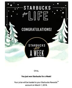 Starbucks for Life I