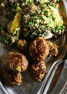 Grønne frikadeller med quinoasalat Gode og sunde frikadeller fra Familie Journals Slankeklub