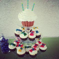 Little man birthday theme, bowtie cupcakes!
