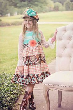 Fall Blossom Lace Twirl Dress  12 Months to 6X Now In Stock