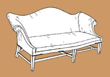 Chippendale Camelback Sofa plans