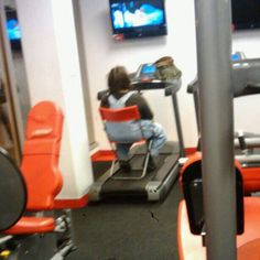 kind of defeating the purpose of the treadmill don't ya think lol