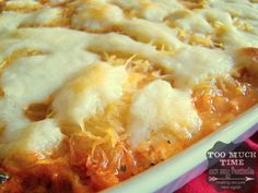 Spaghetti Squash Lasagna- Gluten Free...I'm a little obsessed with spaghetti squash lately, and this looks amazing!