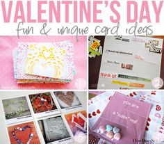 Fun & Unique Valentine's Day Cards! Includes doily envelopes, magazine poems, instagram valentines, a treat maze and more! #valentines #cards #howdoesshe