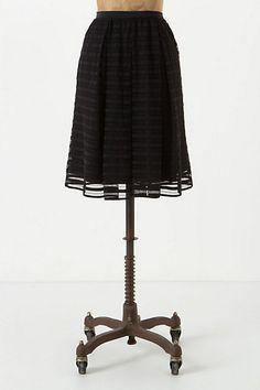 Striped Mesh Skirt #anthropologie