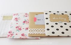 a touch of washi tape envelopes #diy #washitape
