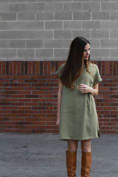DIY boxy dress with a pocket