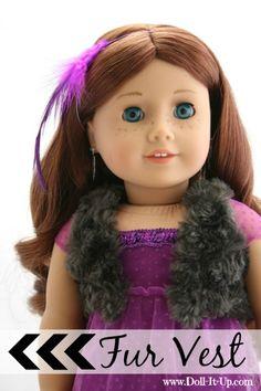 A fur vest for dolls-pattern included!