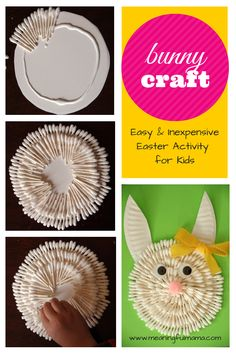 Easter Bunny Craft with Q-Tips - Meaningful Mama