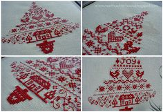 Scandinavian Christmas Tree cross stitch