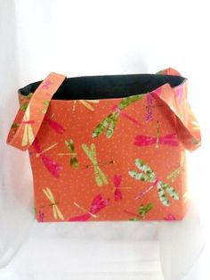 Tote Bag Fabric Handmade Tote Organizer by RidgeTopEmbroidery, $23.00
