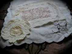 Tattered Applique Embellishment handmade by Dede of TatteredDelicates