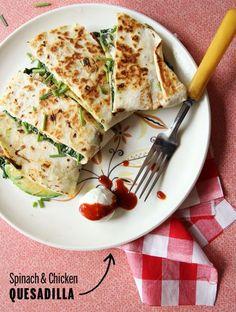 Spinach & Chicken Quesadillas