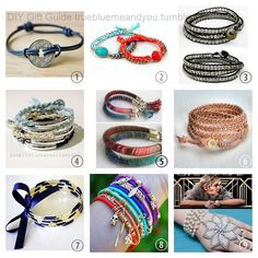 2013 True Blue Me & You DIY Gift Guide: Bracelets Part 5. To see other roundups of DIY gifts go here: http://truebluemeandyou.tumblr.com/tagged/diy-gift-guide #diy #crafts #diy_jewelry #jewelry
