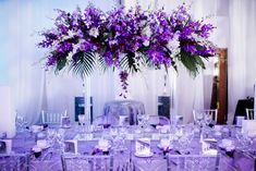 Love this purple centerpiece