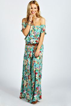 Jamie Off The Shoulder Floral Maxi Dress is on sale now for - 25 % ! is on sale now for - 25 % !