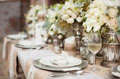 Garden Glam & Romance | Wedding Decor | Wedding Table Settings | Centerpiece | Greer G Photography