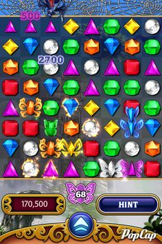 Bejeweled.....the first game I played on my phone.  It is a great game when you have a minute or two to spare.  I always played it while I was waiting for Bob to pick me up at school.