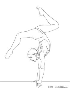BALANCE BEAM artistic gymnastics coloring page
