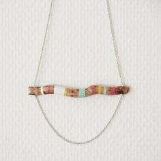 painted wood, diy big necklace, necklace wood, handpaint wood, accessori, diy jewelleri, wood necklac, necklaces, wood jewelri