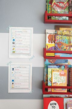 Kids' Morning and Bedtime Routines' printables to hang on the wall