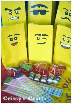 Lego Favor Bags by Crissy's Crafts