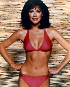 Charlie's Angels star Tanya Roberts works it in red – 1970s.