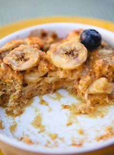 heaven. peanut butter banana breakfast bread pudding
