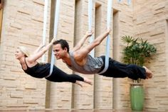 Aerial yoga at Well + Being Spa at Willow Stream Fairmont Scottsdale Princess | Organic Spa Magazine