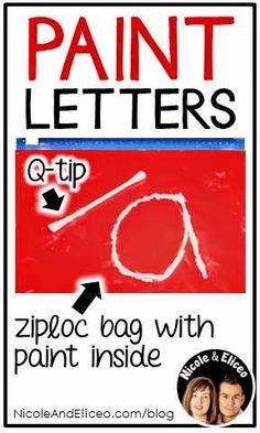 Teacher Tip: Paint bags for letter formation!