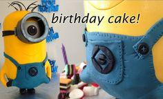 minion cupcakes, cake tutorial, minion birthday, despicable me 2, minion cakes