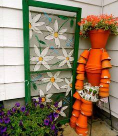 paint in a screen door