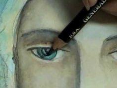 Art Journal Portrait tutorial by Pam Carriker