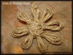 D-I-Y Twine Flowers