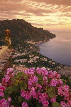 View of the Ravello Coastline - Italy.  #Travel #TravelTips