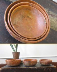 I would love to know what these bowls have held...