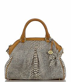 I cant stop dreaming of this on my shoulder. My must have for summer.  Brahmin Odyssey Collection Louise Rose Satchel Bag #Dillards
