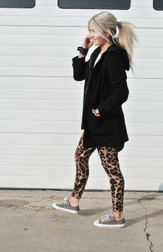 leopard pants & cons
