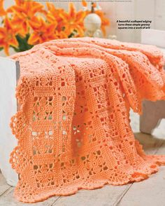 Ravelry: Lacy Squares with Scallop Edging pattern by Anne Halliday ✿Teresa Restegui http://www.pinterest.com/teretegui/✿
