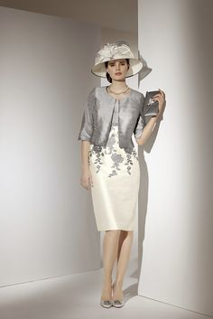 90356 – Platinum/Cream (Condici) - Mother of the Bride - Compton House Of Fashion
