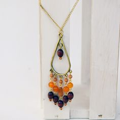 Around Wire and Beads: Boho Style Chandelier Pendant