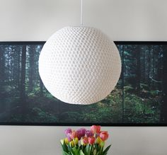 DIY Crochet Lampshade Cover - Free Crochet Pendant Lamp Pattern