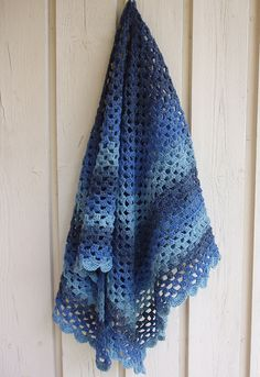 Ravelry: The Original Half Granny Square/Shawl pattern by Ambar Enid Alcalá