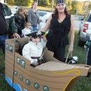 "The ""Jolly Booger"" Pirate Ship Wheelchair Costume"