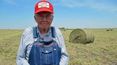 Gotta love those Iowa Farmers! Great folk the conservative thinking and self reliant Iowans! Unlike most of his Iowa neighbors, farmer Dick Thompson isn't expecting the US Govt. to help him survive the drought. While others depend upon federally subsidized crop insurance, Thompson relies on old-fashioned farming methods to see him through.  Boone, Iowa