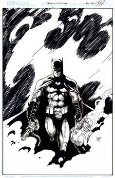 Batman vs Mr. Freeze by Ken Hunt